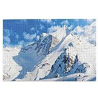 パズルSnow mountain skiing 1000ピース 木製パズルミニ 大人の減圧 絶妙な誕生日プレゼント