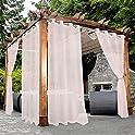 Bonzer Waterproof Indoor/Outdoor 54 x 95 Inch Sheer Curtains