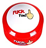Fuck You Button - Talking Button Features Hilarious Fuck You Sayings - Talking Novelty Gift with Funny Sound Clips