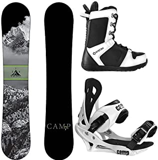 Camp Seven 2020 Valdez Snowboard Summit Bindings & APX Boots Men's Complete Snowboard Package