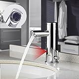 Auralum Verchromter Wasserhahn mit Infrarot Sensor fürs Bad