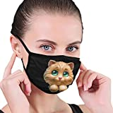 CIKYOWAY Stay Safe Reusable Face Mask,Pet Cat Lovely Kitten With Green Eye,Protection Washable Mouth & Nose...