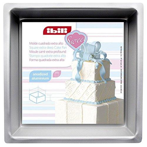 Top Shop Ibili Moule à gâteau carré 15 x 10 cm pour gâteaux avec fond extra profond