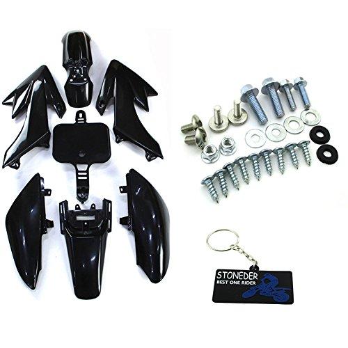STONEDER Kit de garde-boue noir + vis de montage pour Honda XR CRF 50 Pit Bike