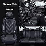 Tcbz Fundas de Asiento de Coche Juego Completo Universal para Volvo xc90 s60 s80 v40 v50 v70 XC40 XC60 XC70 V60 V90 S60L S90 C70 S40 Accesorios de Coche, Blanco y Negro estándar