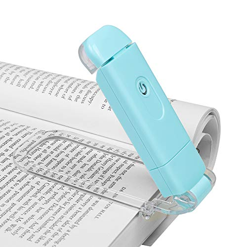 DEWENWILS USB Rechargeable Book Light for Reading in Bed, Warm White, Brightness Adjustable, LED...