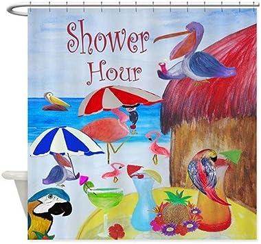 xmarc Shower Hour Party Troical Bird Beach Shower Curtain