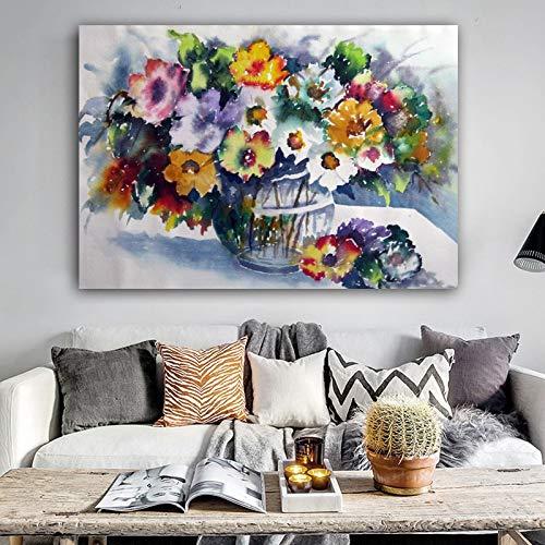Frameloze olieverfschilderij poster muurkunst canvas Ng bloem muurschilderijen voor woonkamer Cuadros Home