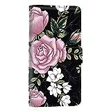 スマホケース 手帳型 カードタイプ DIGNO A KYV44 : Qua phone QZ KYV44 [花柄・ピンク] ボタニカル 薔薇 フラワー フローラル ディグノ エー:キュアフォン キューゼット スマホカバー 携帯ケース スタンド [FFANY] rose aai_190335c
