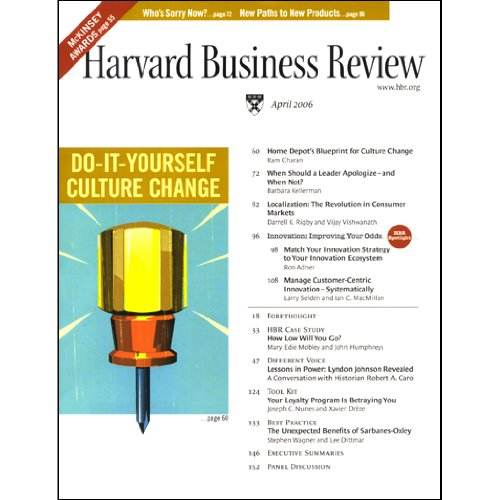 Harvard Business Review, April 2006 audiobook cover art