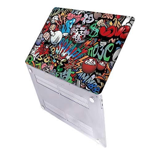 SDH Funda de 13 pulgadas 2020 Edition pantalla táctil y modelo de identificación para MacBook Pro: A2338 M1 A2289 A2251 A2159 A1989 A1706 A1708, funda para ordenador portátil,kit Graffiti 2