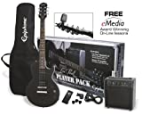 Packs guitare EPIPHONE PACK GUITAR LP SPECIAL II LTD EBONY ET AMPLI ELECTAR 15R Packs guitare...