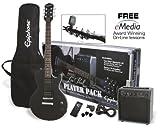 Packs guitare EPIPHONE PACK GUITAR LP SPECIAL II LTD EBONY ET AMPLI ELECTAR 15R Packs guitare électrique