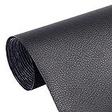 Hwtcjx Parche De Cuero, 5 piezas Parche De Reparación De Cuero, Cuero artificial duradero, resistente a la fricción, autoadhesivo, fácil de usar, para asientos de automóvil, sofás (20 x 30cm, negro)