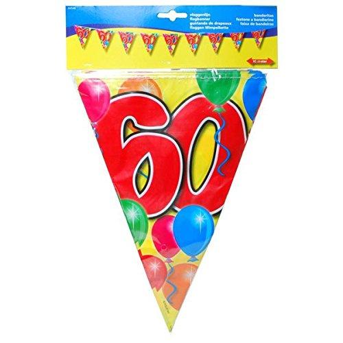 Udo Schmidt Kleurrijke verjaardag wimpel slinger 60 jaar party decoratie verjaardag