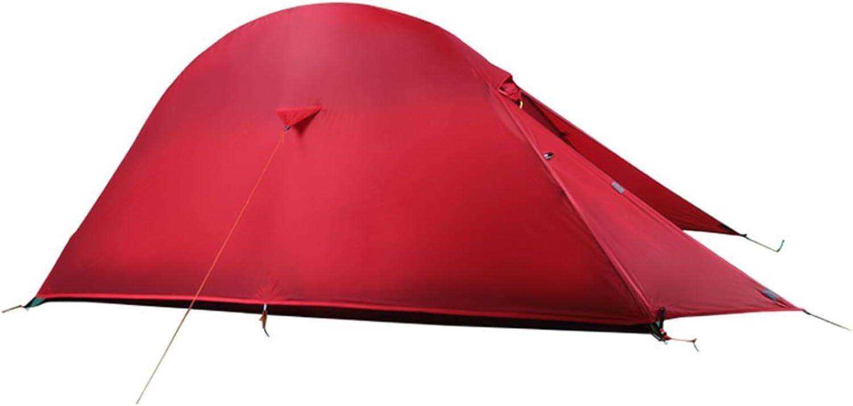 LJHA zhangpeng Tent Ultralight Single Warm Tent Outdoor 1 Person Rain Tent Red Dome Tents