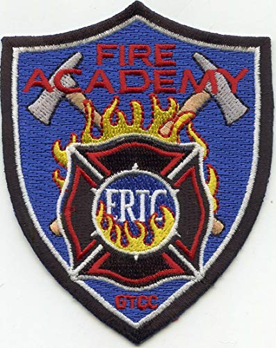 Embroidered Patch - Patches for Women Man - Guilford TECH Community College North Carolina NC Fire Academy FIRE