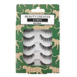 LVMIX Eyelashes Wispy Natural False Lashes Reusable Fake Eyelashes 100% Handmade (5 Pairs)