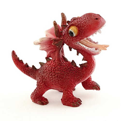 Top Collection Miniatur-Fairy Garden und Terrarium Mini Red Dragon Figur