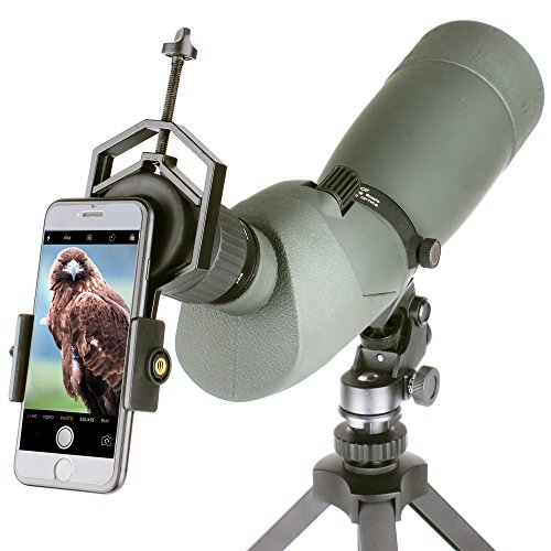 Solomark Universal Cell Phone Adapter Mount - Compatible with Binocular Monocular Spotting Scope Telescope and Microscope - for Phone Sony Samsung Moto Etc