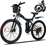 26' Electric Bike for Adult Electric Mountain Bike E-Bike, 250W Powerful Motor Electric Bicycle 20MPH with Removable 8AH Lithium-Ion Battery Professional 21 Speed Gears (Black)