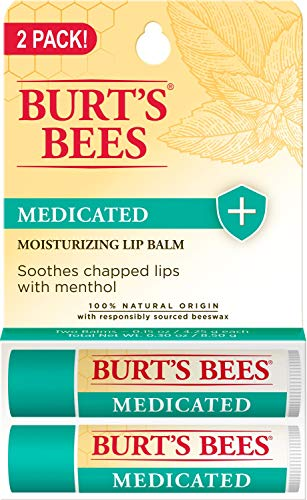 Burt's Bees 100% Natural Medicated Moisturizing Lip Balm - 2 Tubes