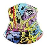 fuyon Neck Headband Pitbull Colorful Dog Face Outdoor Sport Balaclava Magic Headband Neck Warmer Gaiter