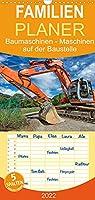 Baumaschinen - Maschinen auf der Baustelle - Familienplaner hoch (Wandkalender 2022 , 21 cm x 45 cm, hoch): Sie sehen Bilder von Baumaschinen an ihrem Arbeitsplatz (Monatskalender, 14 Seiten )