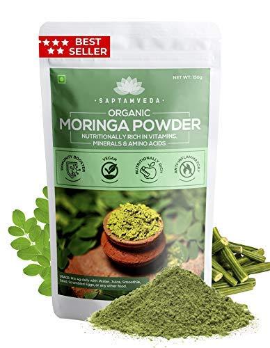 SAPTAMVEDA 100% Organic Moringa Leaf Powder (150 GM)
