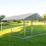 Action club Heavy Duty Dog Cage Outdoor Pet Playpen Wire Kennel for Back or Front Yard with Water-Resistant Cover