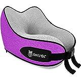 SNUGL Travel Pillow for Kids - Premium Ergonomic Design Memory Foam Cushion