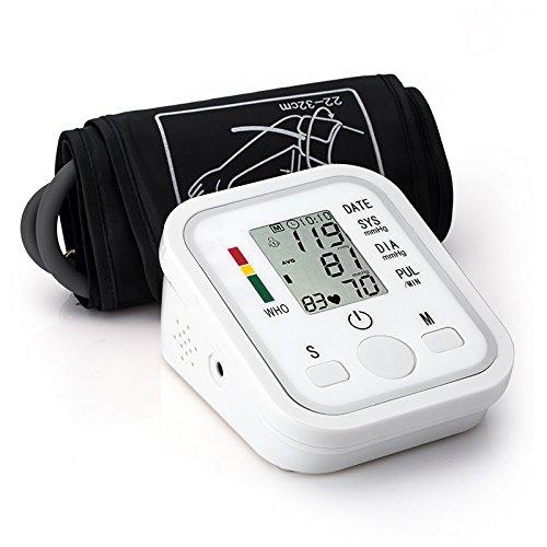 ZUZU Hochpräzises elektronisches Puls-Herzschlag-Messgerät mit Oberarmautomatik,englishvoice