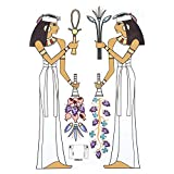 AUNMAS PVC Removable <span class='highlight'>Cartoon</span> Wall Sticker Children Room Background Art Decor Ancient Egyptian Maid Wall Mount for Kindergarten <span class='highlight'>Mall</span> Kids Nursery Bedroom Decoration