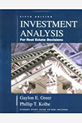 Investment Analysis for Real Estate Decisions Hardcover
