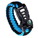 RNS STAR Paracord Survival Bracelet with Paracord Rope, 5-in-1 Tactical Bracelet Fire Star...
