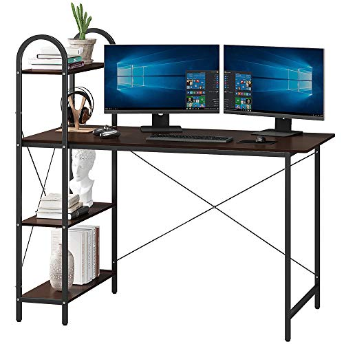 HOME BI Computer Desk with Shelves, Writing Desk for Home Office, Student...