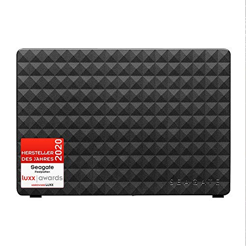 Seagate Expansion Desktop, externe Festplatte 10 TB, 3.5 Zoll, USB 3.0, PC, Notebook, Xbox & PS4, inkl. 2 Jahre Rescue Service, Modellnr.: STEB10000400