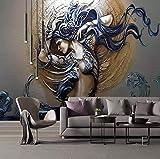 Fototapete Perlen Mode Schönheitsmalerei Moderne Wanddeko Design Tapete Wandtapete Wand Dekoratio TV Hintergrundwand 450x300 cm