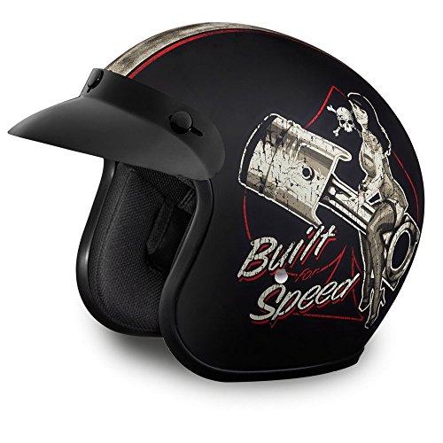 Daytona Helmets Motorcycle Open Face Helmet Cruiser- Built for Speed 100% DOT Approved