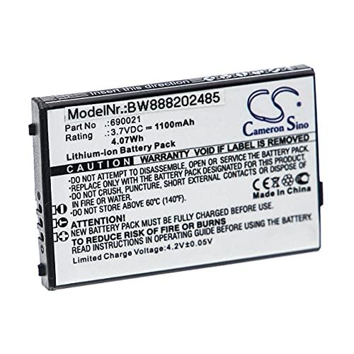 vhbw Batería Recargable reemplaza NEC 690021 para teléfono Fijo o inalámbrico (1100 mAh, 3,7 V, Li-Ion)