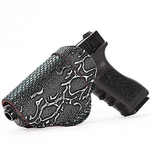 Glock 17/19 Leather Gun Holster - Inside Waistband Concealed...
