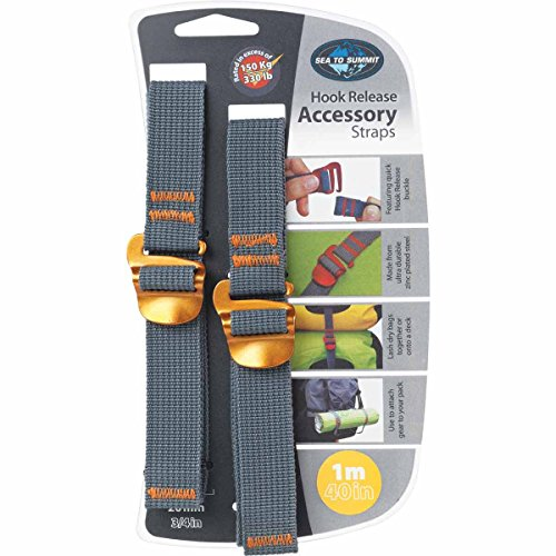 Sea to Summit Tie Down Strap 20 mm 1 m, STS_10364/5-STS_10364, Jaune, Taille unique