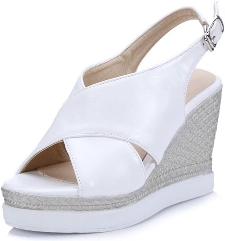 IDIFU Women's Comfy High Wedge Heels Platform Slingback Sandals