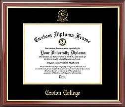 Laminated Visuals Crown College Storm - Embossed Seal - Mahogany Gold Trim - Diploma Frame