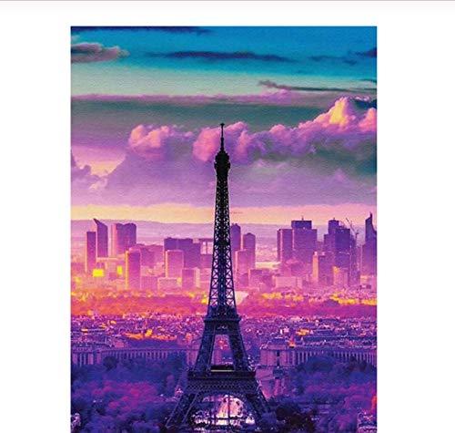 Puzzle Jigsaw 1000 Piezas Torre Eiffel Paisaje Niños Juguetes Decoración del hogar