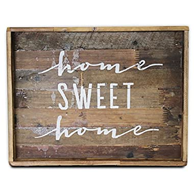 Home Sweet Home Wood Sign, Large (Tray, Decorative Plaque) | by Urban Legacy