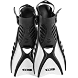 IST FK31 Otter Trek Fins for Swimming, Snorkeling, Scuba, Watersports White Large (Size:10-13)