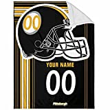 Pittsburgh Plush Throw Blanket Custom Any Name and Number for Men Women Youth Gifts