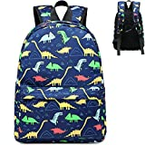 CAMTOP Kids Backpack Preschool Kindergarten Bookbag Elementary School Bag for Boys(Dinosaur-Navy Blue)