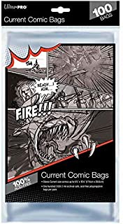 Ultra Pro Resealable Current Size Comic Bags 2-Mil Polypropylene 6-7/8 X 10½ Inches (100-Count)